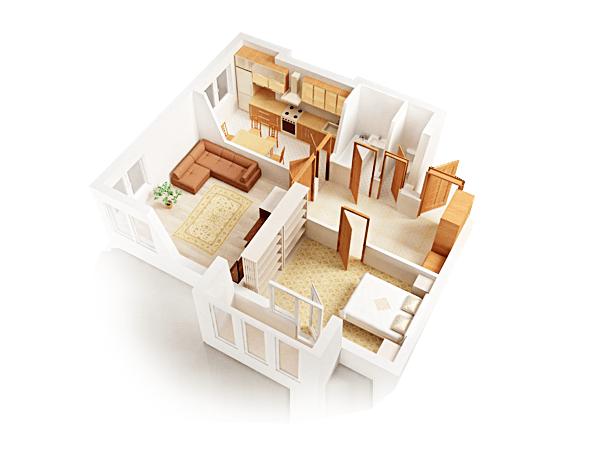 Натяжной потолок в квартиру за 10229р.